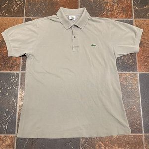 Lacoste Short Sleeve Polo Mens Size 3